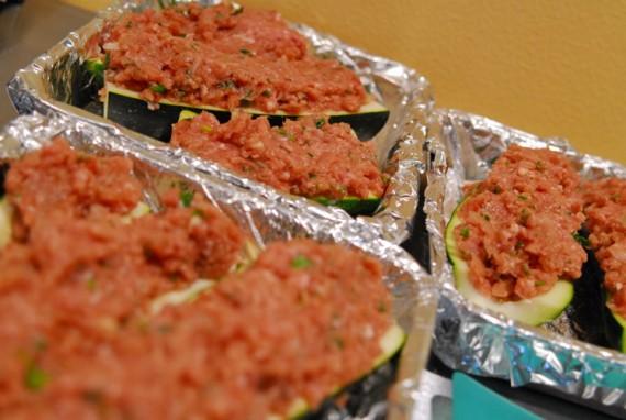 Turkey Stuffed Zucchini