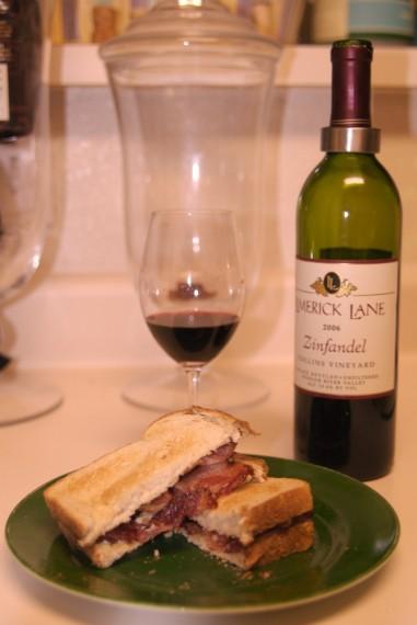 Bacon Sandwich with Limerick Lane Zinfandel
