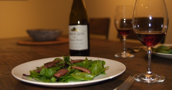 Spinach Salad with Duck & Cherries
