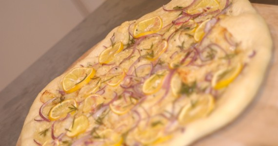 Lemon and Piave Pizza