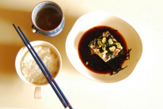 Minimalist Japanese breakfast