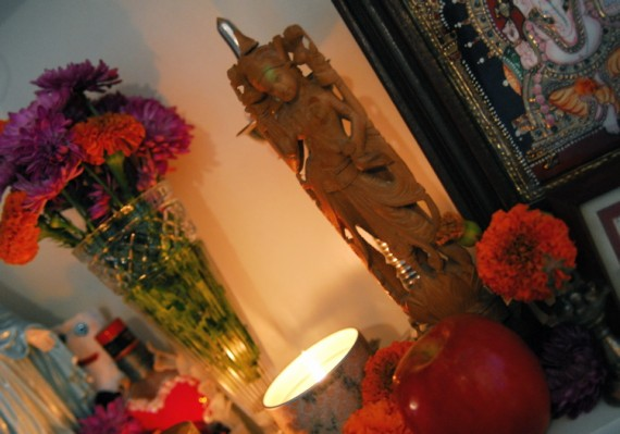 Lakshmi on the Altar