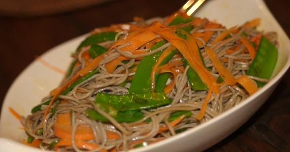 Soba Noodles with Peas and Carrots