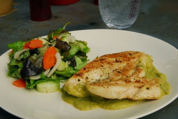 Grilled Chicken with Mustard and Fava Bean Puree