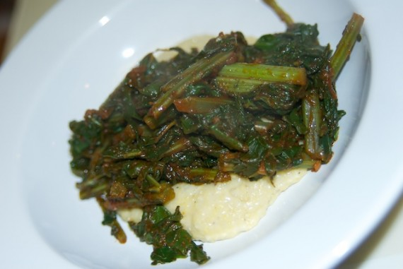 Braised Kale with Polenta