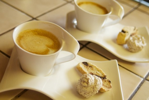 Cappuccino with Amaretti and Biscotti