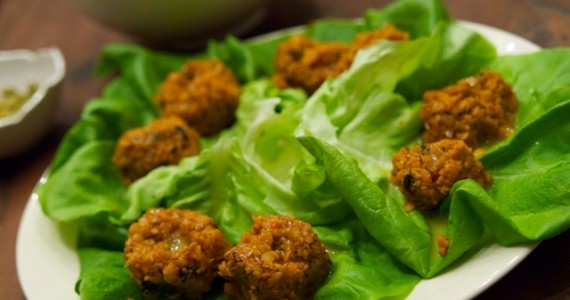 Lettuce Wraps with Red Lentil Kofte