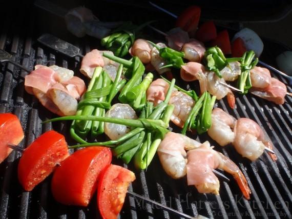 Shrimp & Scallion Spiedini
