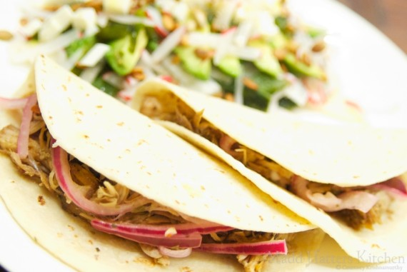 Slow Cooker Pulled Pork Tacos with Pickled Red Onions