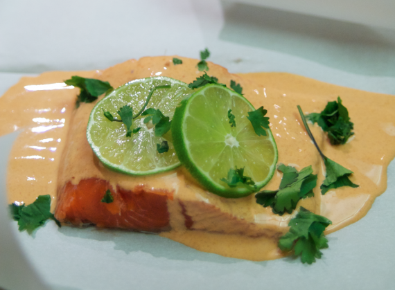 Curried Salmon in Parchment Paper